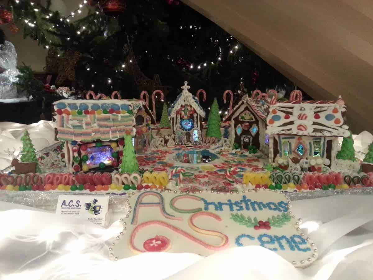 A Christmas Scene - Gingerbread House display at Crown Isle