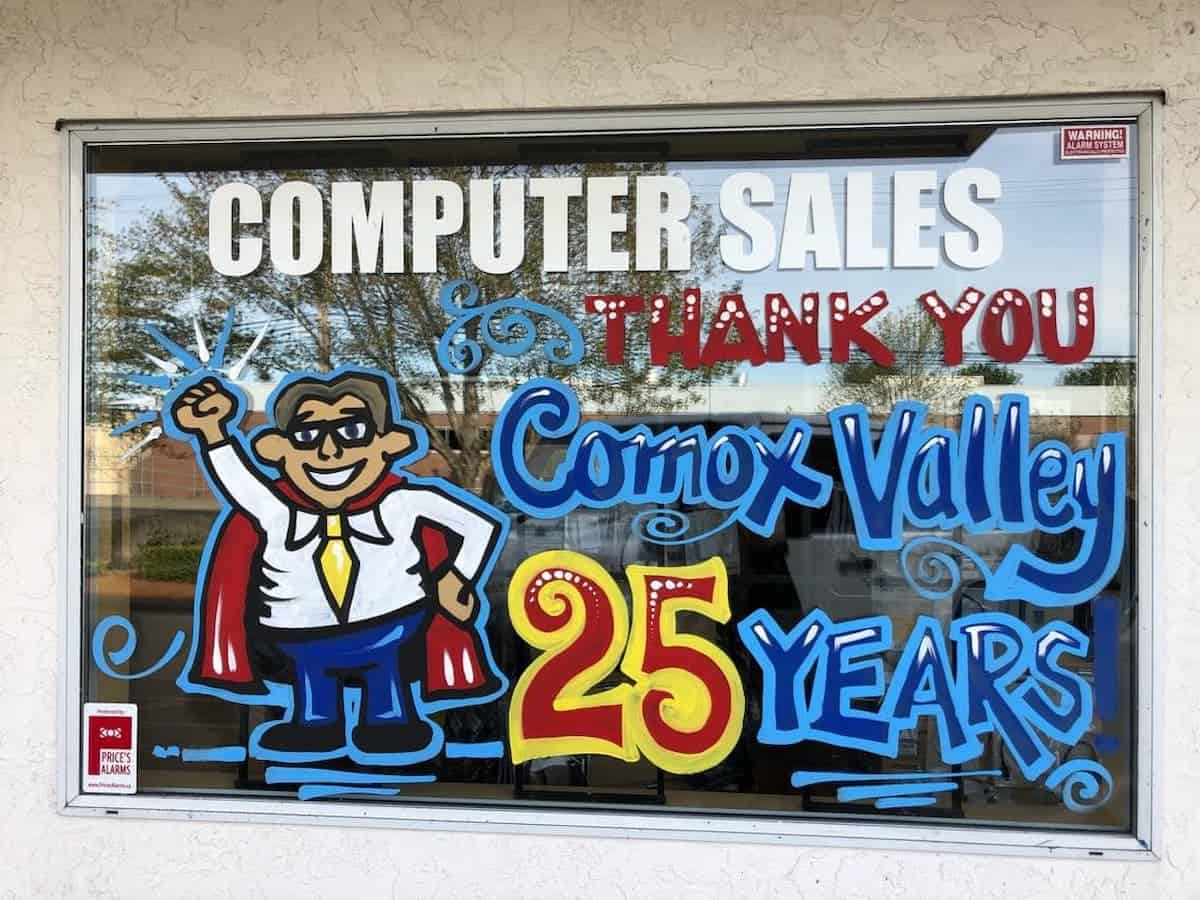Thank You Comox Valley for 25 Years in business